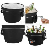 China custom high quality 600d polyester 12 pack wine bottle cooler bag round cooler bag for party, packaging, bagplastics pac on sale