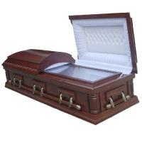 Quality Custom Color Wooden Coffins With Medium - Density Fiberboard Material wholesale