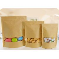 Flat Bottom Plastic Storage Bags With Zippers White Kraft Paper Food Grade