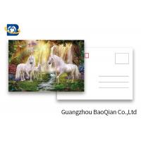 Quality Full Color Animated Postcards , Two Sides Custom Lenticular Printing 0.6 MM PET wholesale
