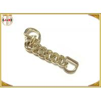 Quality Zinc Alloy Custom Bag Hardware Gold Metal D Ring With Chain Die Casting Plating wholesale