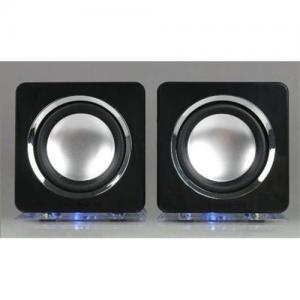 China 2.0 Channel mini Speaker wih led light on sale