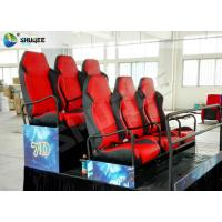 Quality 5D Cinema PU Leather Spray Air 6 Seat Platform Profession Cinema Equipment wholesale
