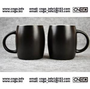 Quality 400ML Beer barrel mug black ceramic beer mug custom advertising LOGO for your design wholesale