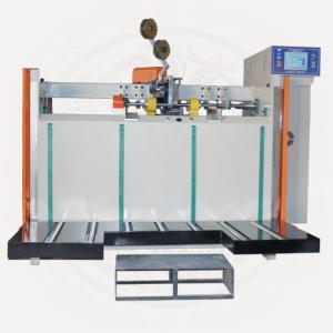 China Semi-auto Carton Box Stitching Machine, Carton Box Folding + Stitching on sale