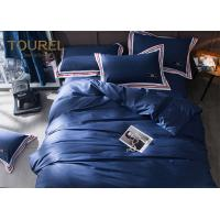 Quality 100% Stone Washed Hotel Quality Bed Linen soft Linen dyed bedding set Dark Blue wholesale