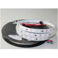 Quality ws2812 flexible Full Color LED Strip with IP65 , dc12v/dc5v/black pcb with 3M tape wholesale