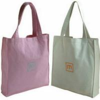 Quality Colorful Promotional 100% Cotton Carrier Bags / Washable Reusable Eco Shopping Bags wholesale