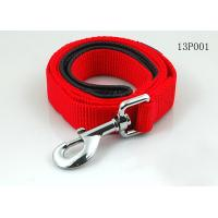 Quality Red / Black Strong Polyester Rope Dog Leash With Nickel Metal Hook / Nickel Buckle wholesale