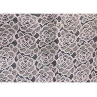 Quality Water soluable golden Embroidered Rose guipure Lace Fabric Textile Design 90% Nylon 10% Lycra Spandex Knitting wholesale
