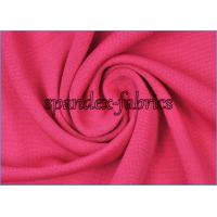 Quality Rose Polyester Jersey Knit Ultrathin Little Stretch Lining Fabric for Dress Garment wholesale