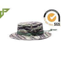 Quality Army Woodland Camo Boonie Hat With String , Tactical Military Hats wholesale