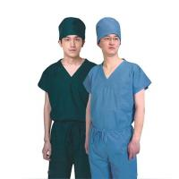 China Non - Woven Disposable Scrub Suits , Short Sleeves Royal Blue Womens Scrubs on sale