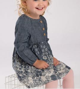 Buy cheap Spring girl denim dress Lovely printing princess skirt from wholesalers