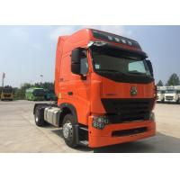 Quality Reliable Howo Tractor Truck Orange Color Tractor And Truck Low Fuel Consumption wholesale