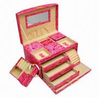 Quality Jewelry Case, 10 Apartments with Mirror, OEM Orders are Welcome wholesale