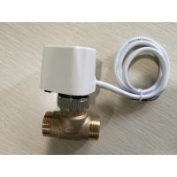 China Brass Fan Coil Unit Valve Electric Thermal Valve For Air Conditioner And Heating System on sale