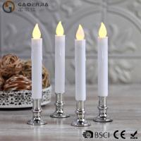 Quality TL-006 Battery Operated Taper Candles With Timer Golde Silver Color wholesale