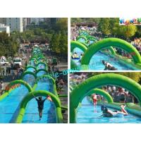 Quality 1000 Feet Giant Splash Inflatable Water Slide , Commercial Water Slides wholesale