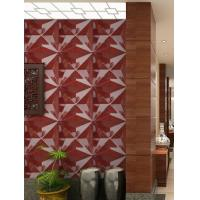 Cheap PVC 3D Background Wall Exterior / Interior Wall Paneling Tiles for sale