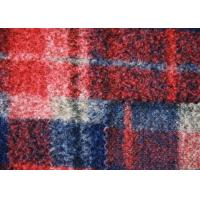 Quality Water Proof Irish Red Plaid Wool Fabric , Windowpane Check Fabric Eco - Friendly wholesale