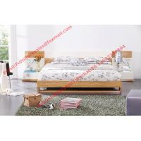 Quality Modern bed furniture by oliver melamine MDF Bed and white glossy nightstand wholesale
