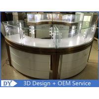 Quality High End Stainless Steel Gold Jewellery Showroom Display With Led Light wholesale