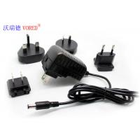 Cheap 5V 2A  Interchangeable Power Supply Wall Mount Type Low Ripple Noise for sale