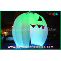 China Cute Inflatable Holiday Decorations Lighting Ghost Door / Large Inflatable Pumpkin on sale