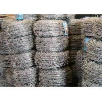Quality Four Barbs Galvanized Iron High Tensile Barbed Wire Fence For Highway wholesale