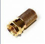 China F Connector in Crimp and Twist Types, Hex Braid-Crimp Cable Attachment (YD5) on sale