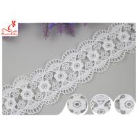 Decorative Knitted Water Soluble Cotton Lace Trim For Wedding Dresses