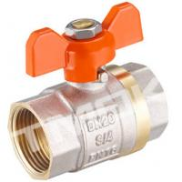 Quality 1/2 inch brass ball valve with brass body stainless steel butterfly handle and CE approved wholesale