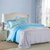 Quality 4 Piece Navy Blue Bedding Sets , 100 Percentage Cotton Beautiful Bedroom Bedding Sets wholesale