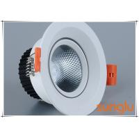 Quality Slope Face Dimmable COB LED Downlight 12 Watt With Casting Aluminium Material wholesale