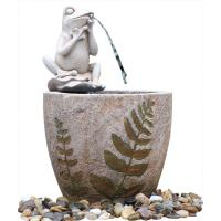 Quality Medium Nude Frog Resin Water Fountain / Resin Garden Water Features wholesale