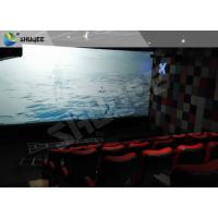 Quality Electric Black / Blue Motion Chair 4D Movie Theater With Simulator System Chair Effect wholesale