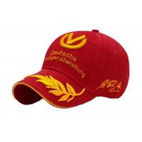 Quality Black / Red Peaked Motor Racing Caps , Spring Adults Flexfit Racing Hats wholesale