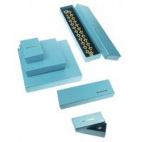 China 157g + 800g Jewelry Recycled Cardboard Gift Boxes For Necklaces , Blue Luxury Gift Boxes on sale