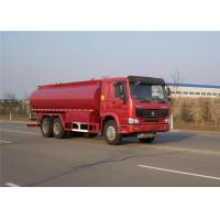 Quality EUROII chassis Fuel / Oil Tank Truck 6x4 25cbm capacity HOWO wholesale