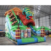 China Forest Themed 5×8 Meter Inflatable Dry Slide , Commercial Inflatable Slide on sale