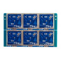 High Frequency FR4 Sensor PCB Boards 5.8GHZ For Induction Lamp , Blue or Custom