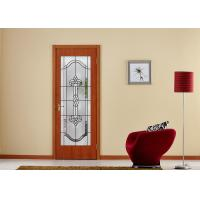Quality Arctic Patterned Window Door Suit Decorative Frosted Glass Brass / Nickel / Patina Available wholesale