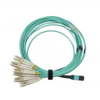 Cheap MPO/PC/F to MPO/PC/F for OM3 with 12B 3.0mm for 1M/5M/10M OFNP/LSZH Aqua B for sale