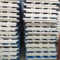 Quality ISO 50mm corrugated PU  sandwich roof panel for clean room in Malaysia wholesale