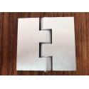 180 Degree Aluminium Industrial Profile Silver Anodizzed Hinge Door Accessories for sale