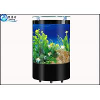 Cheap rugged semi circular floor proof glass aquarium fish for Floor fish tank