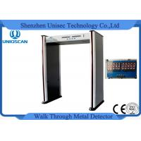Quality 6 Zone Portable Metal Detector For Police Station / Jail PVC Synthetic Material wholesale