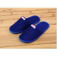 Quality Comfortable Cotton Velour Disposable Hotel Slippers , Terry Cloth Flip Flop Slippers wholesale