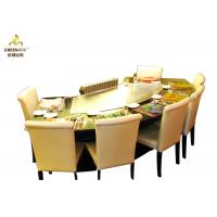 Quality Food Plaza / Buffet Car Teppanyaki Table Grill OEM Wooden Case Packaging wholesale